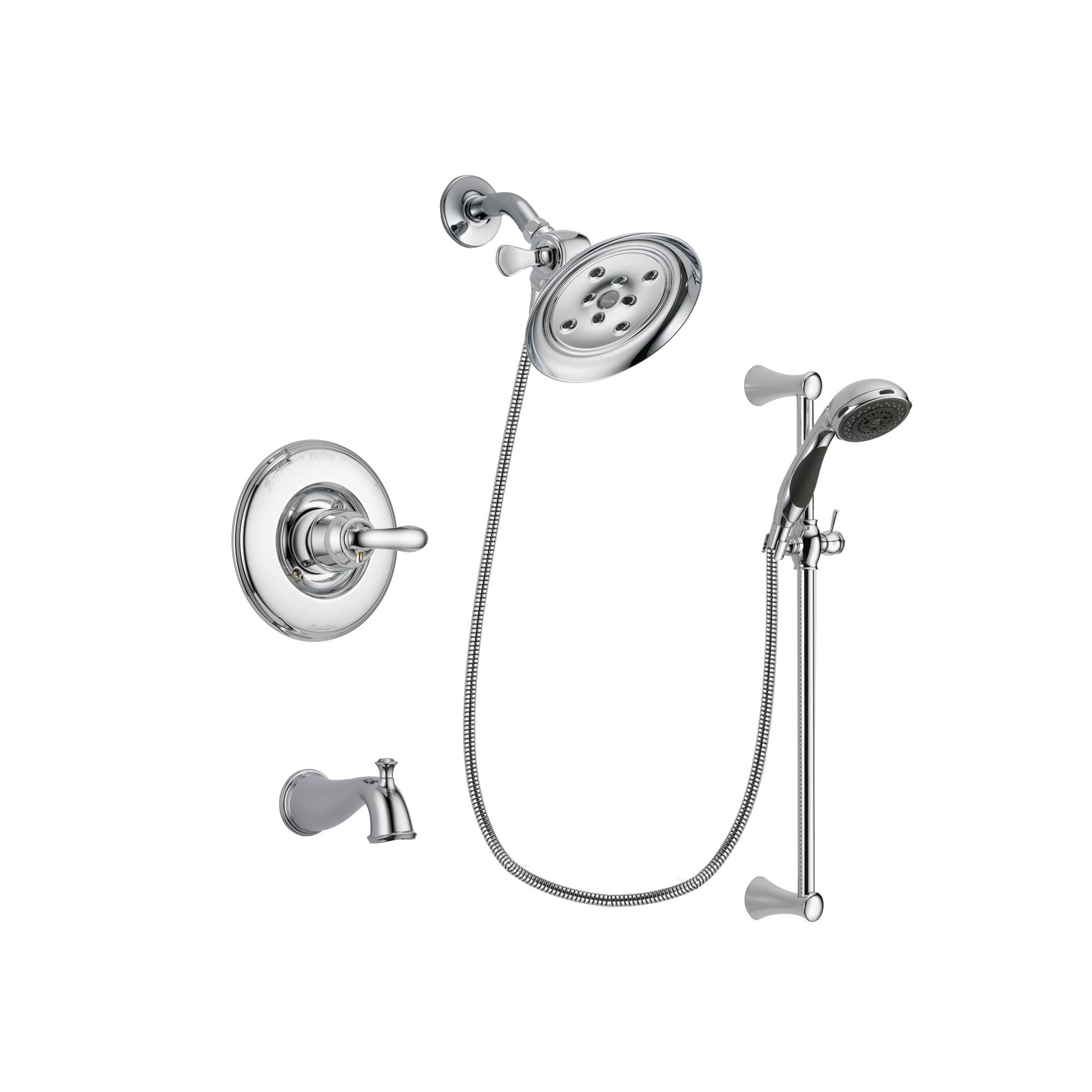 Delta Linden Chrome Tub and Shower Faucet System with Hand Shower DSP0783V