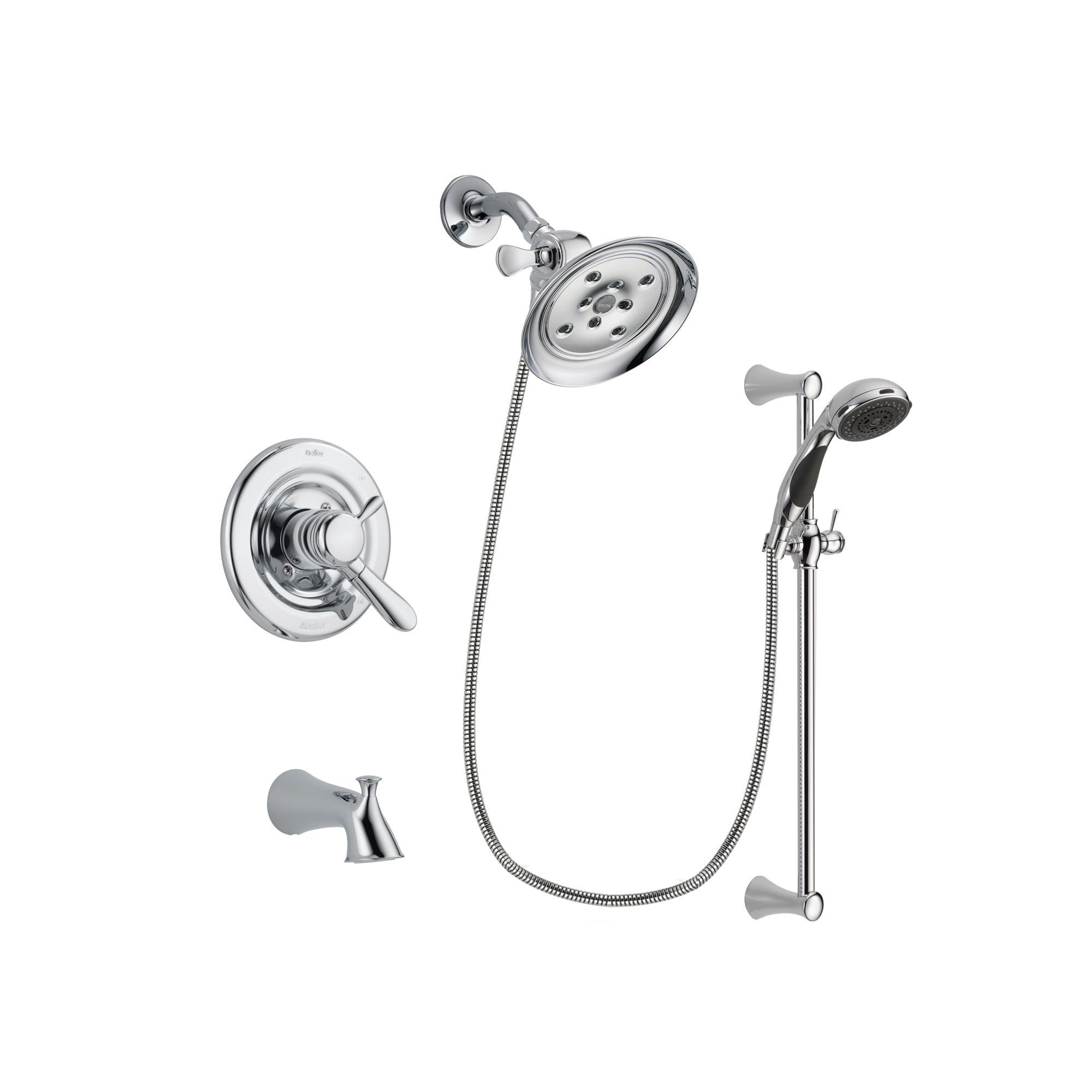 Delta Lahara Chrome Tub and Shower Faucet System with Hand Shower DSP0785V