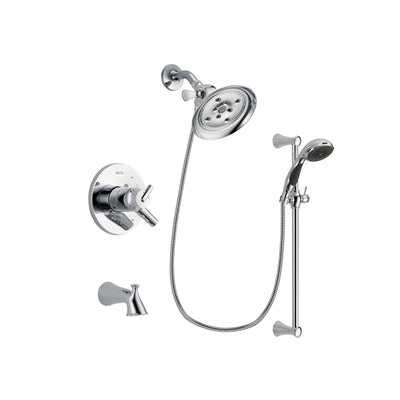 Delta Trinsic Chrome Tub and Shower Faucet System with Hand Shower DSP0787V