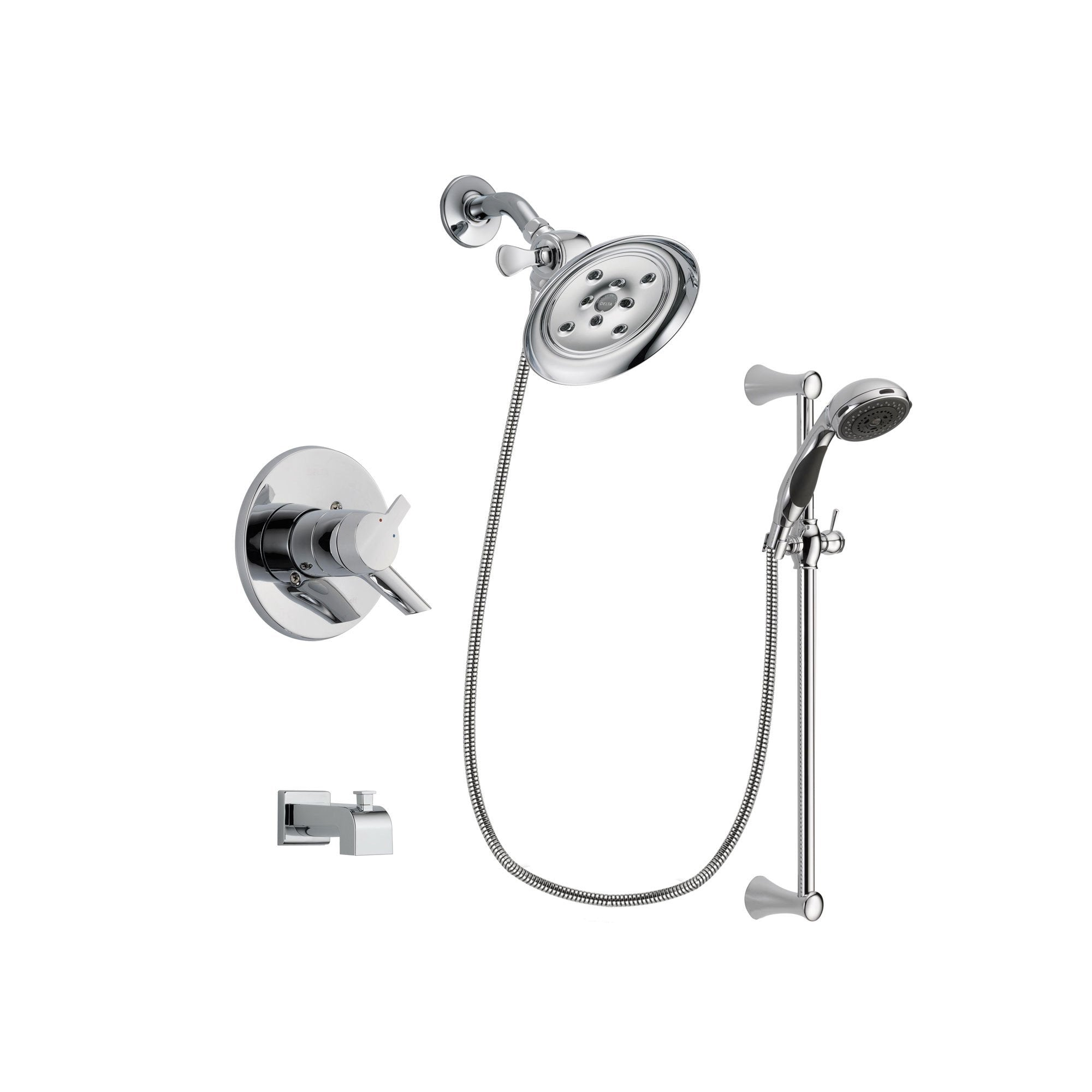 Delta Compel Chrome Tub and Shower Faucet System with Hand Shower DSP0789V