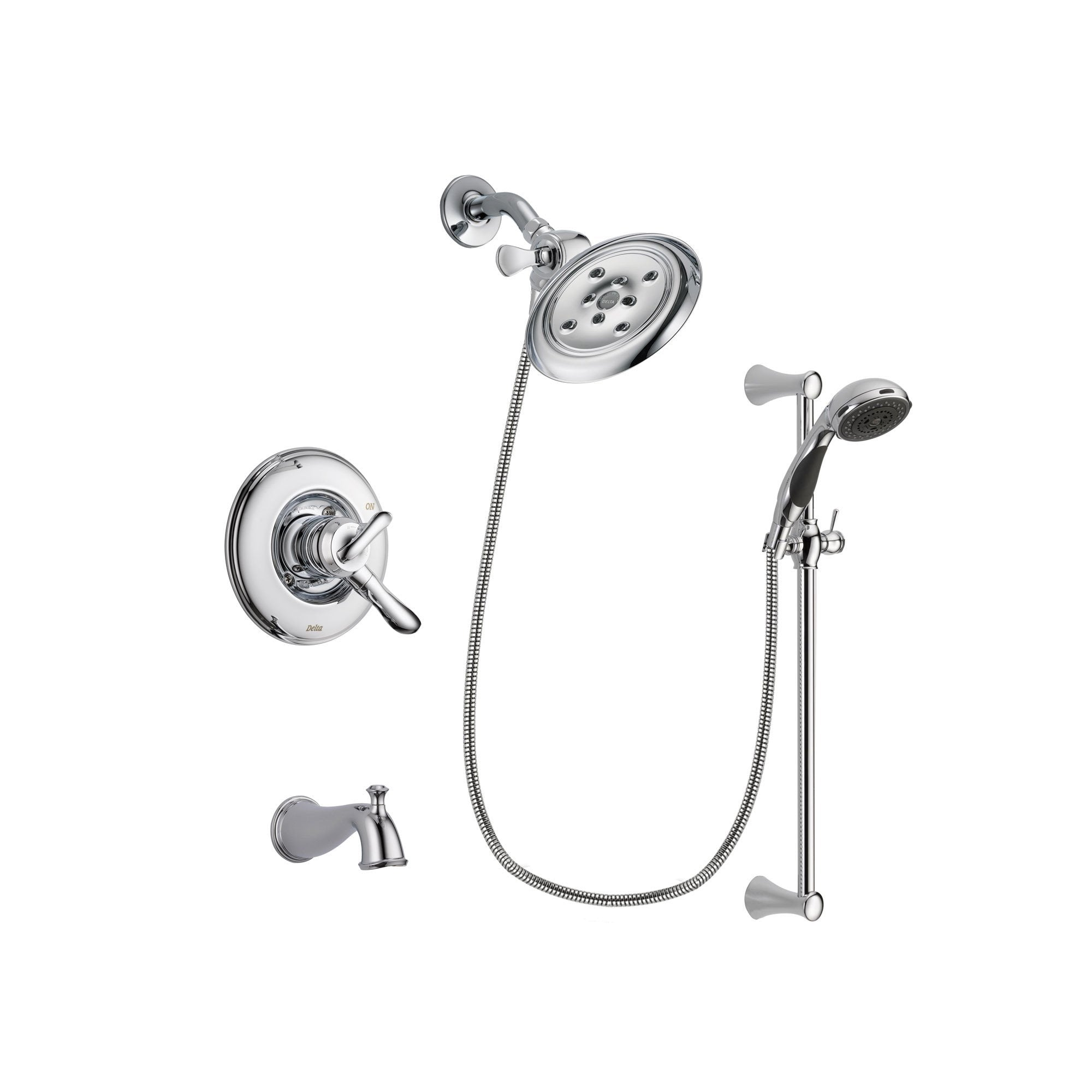 Delta Linden Chrome Tub and Shower Faucet System with Hand Shower DSP0795V