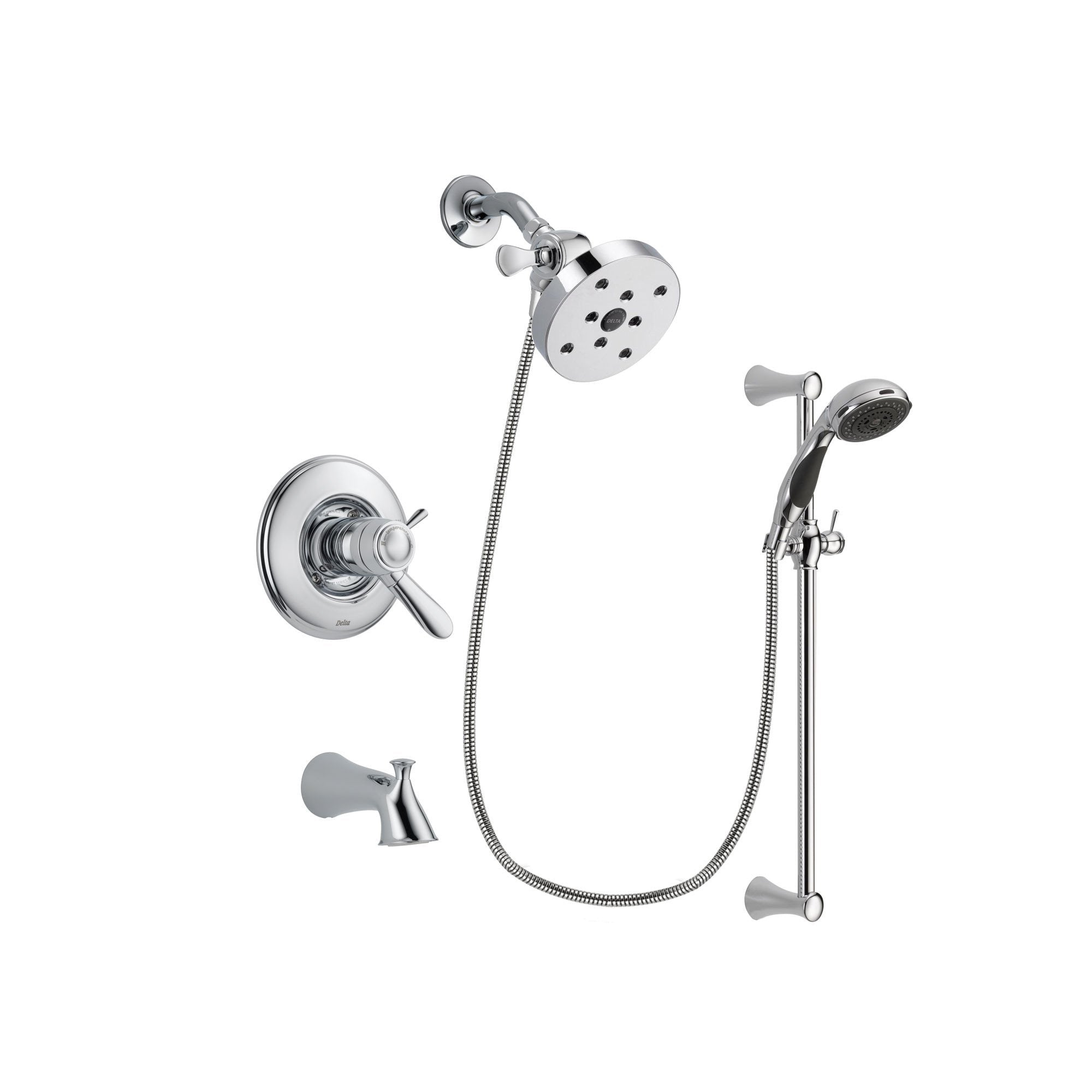 Delta Lahara Chrome Tub and Shower Faucet System with Hand Shower DSP0799V