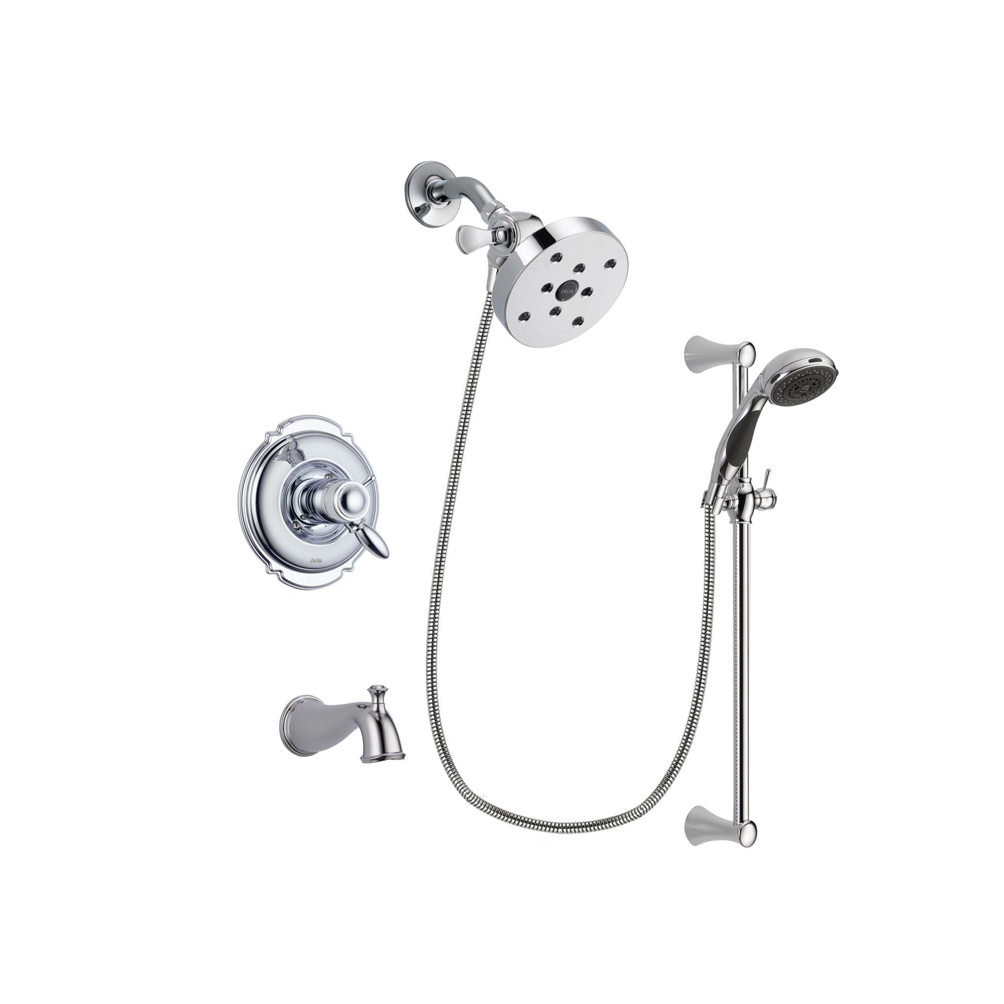 Delta Victorian Chrome Tub and Shower Faucet System with Hand Shower DSP0801V