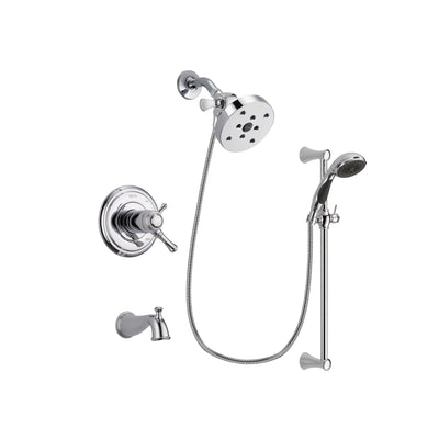 Delta Cassidy Chrome Tub and Shower Faucet System with Hand Shower DSP0807V