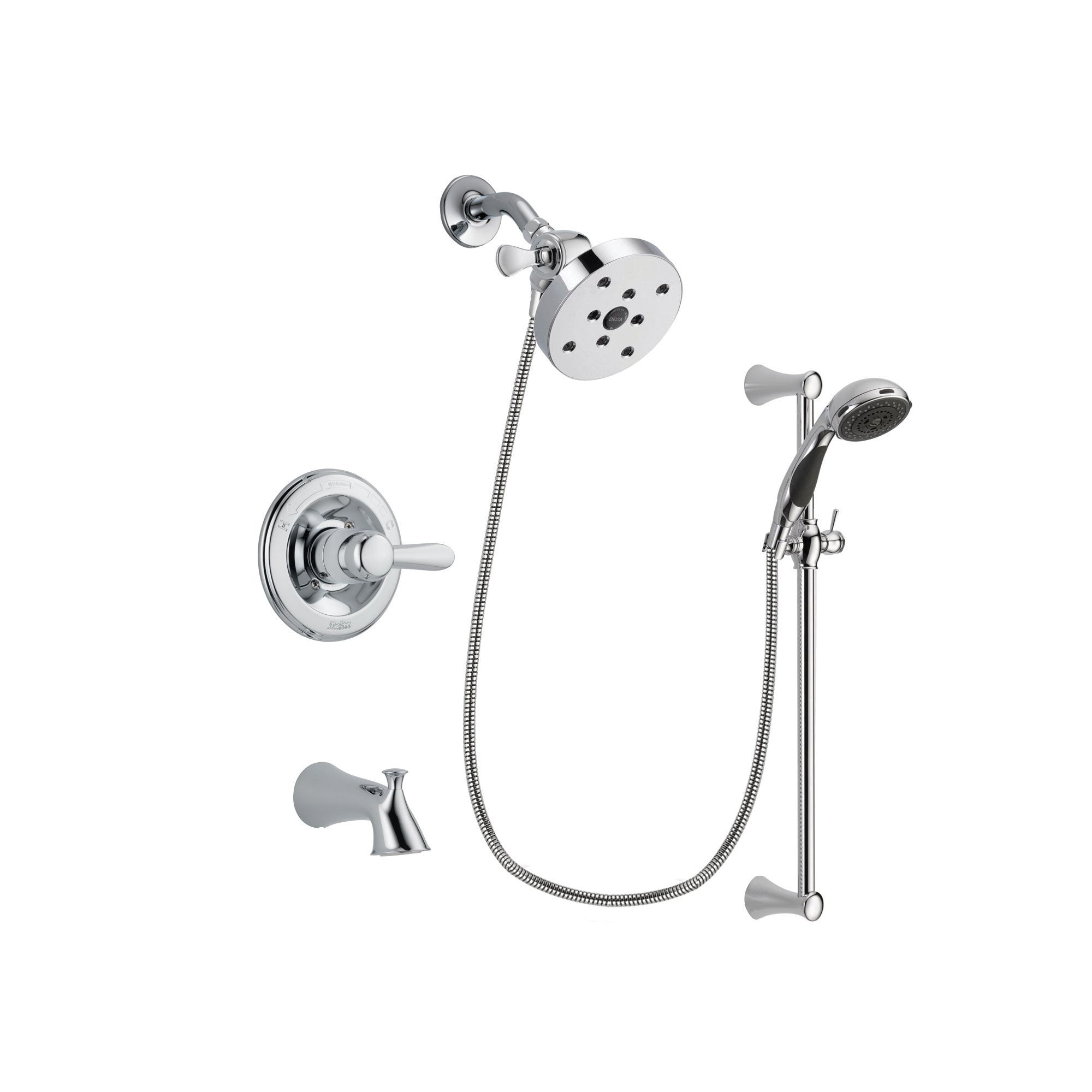 Delta Lahara Chrome Tub and Shower Faucet System with Hand Shower DSP0809V