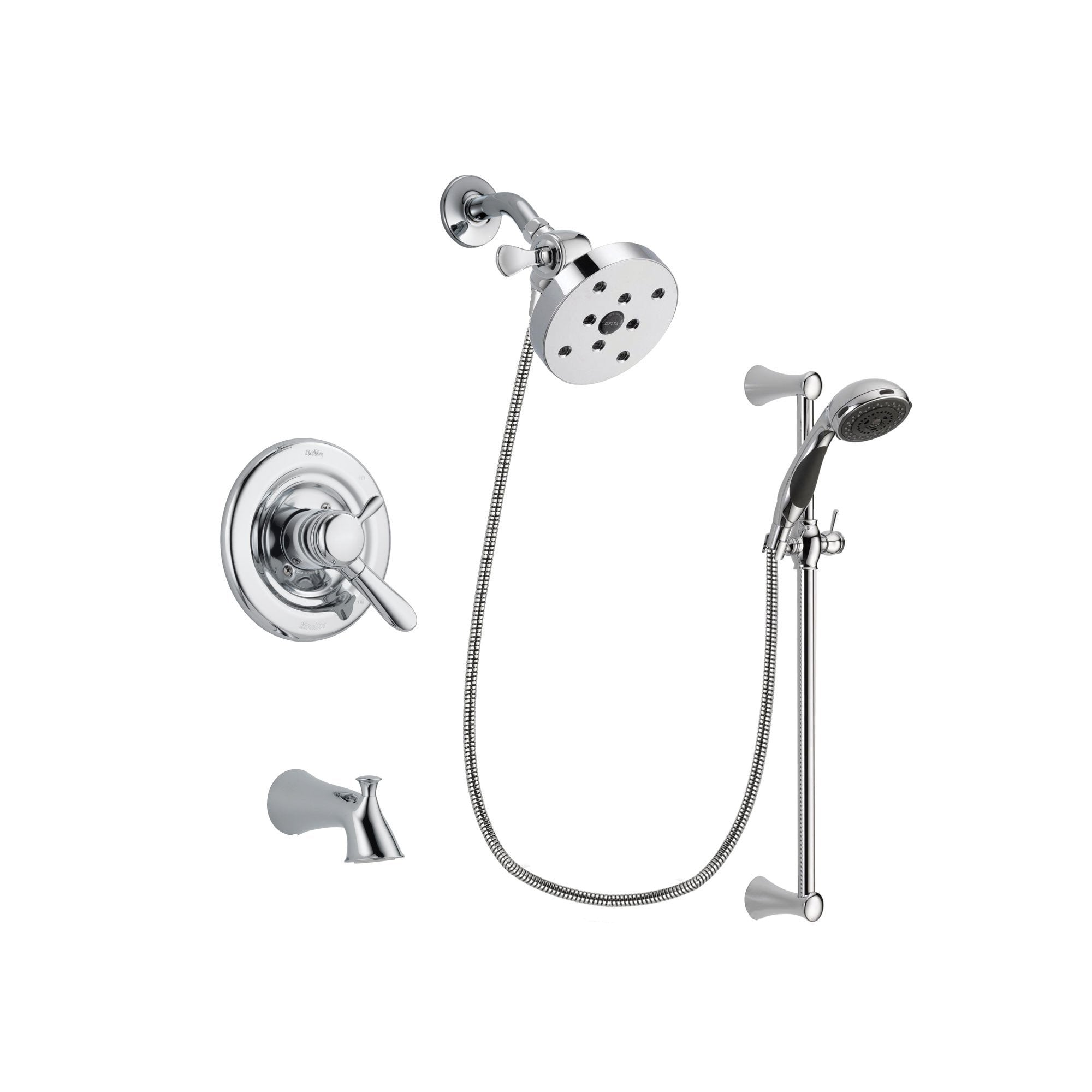 Delta Lahara Chrome Tub and Shower Faucet System with Hand Shower DSP0819V