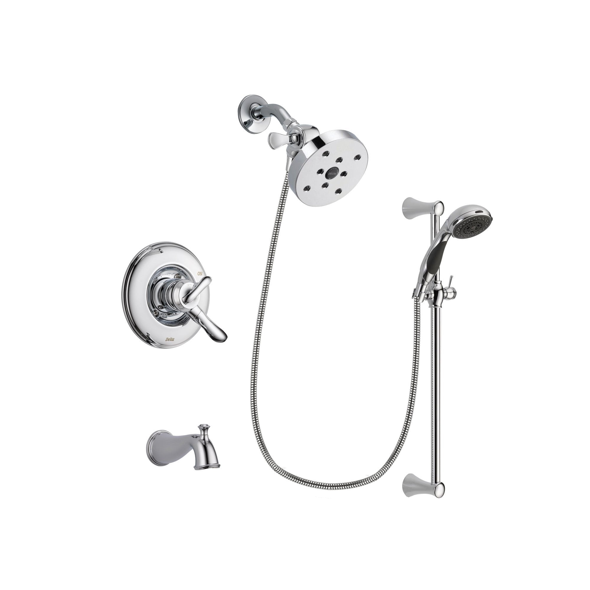 Delta Linden Chrome Tub and Shower Faucet System with Hand Shower DSP0829V