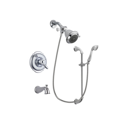 Delta Victorian Chrome Tub and Shower Faucet System with Hand Shower DSP0835V