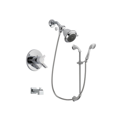 Delta Compel Chrome Tub and Shower Faucet System with Hand Shower DSP0857V