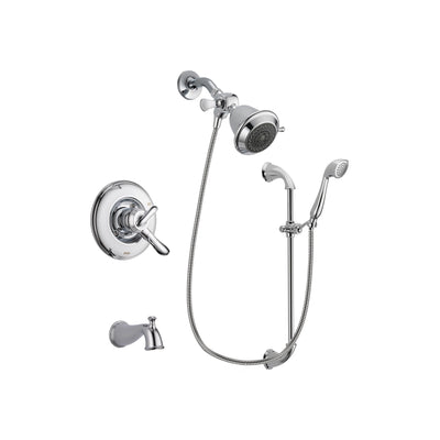 Delta Linden Chrome Tub And Shower Faucet System With Hand