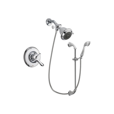Delta Linden Chrome Shower Faucet System w/ Shower Head and Hand Shower DSP0864V