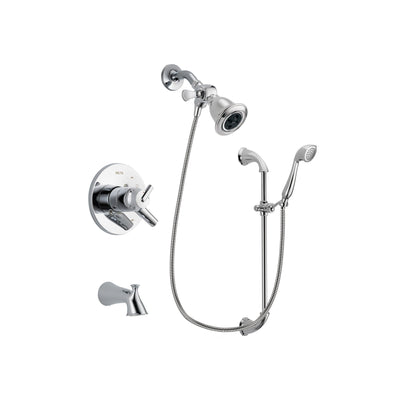 Delta Trinsic Chrome Tub and Shower Faucet System with Hand Shower DSP0889V