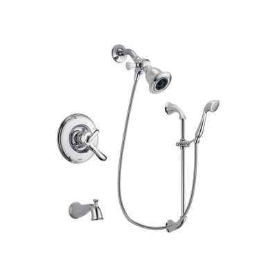 Delta Linden Chrome Tub and Shower Faucet System with Hand Shower DSP0897V