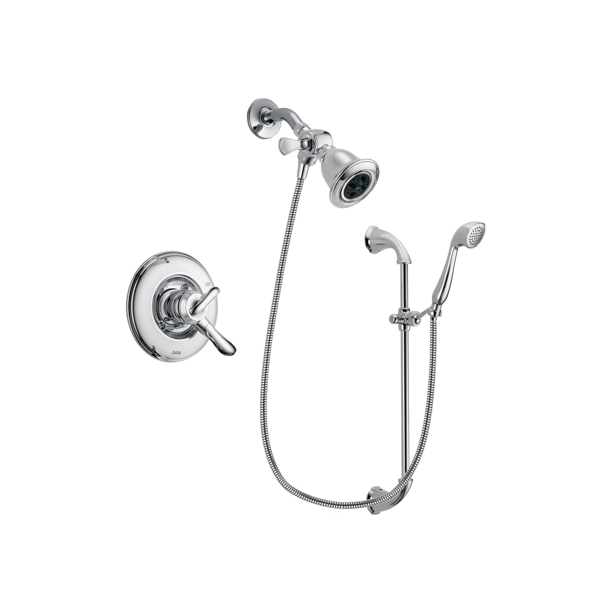 Delta Linden Chrome Shower Faucet System w/ Shower Head and Hand Shower DSP0898V