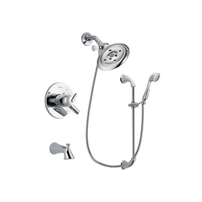 Delta Trinsic Chrome Tub and Shower Faucet System with Hand Shower DSP0923V