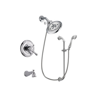 Delta Cassidy Chrome Tub and Shower Faucet System with Hand Shower DSP0933V