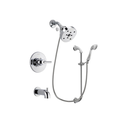 Delta Trinsic Chrome Tub and Shower Faucet System with Hand Shower DSP0947V