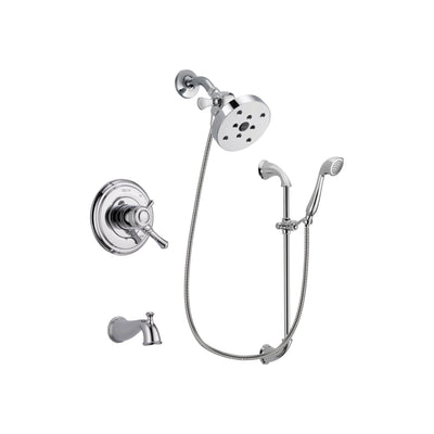 Delta Cassidy Chrome Tub and Shower Faucet System with Hand Shower DSP0967V