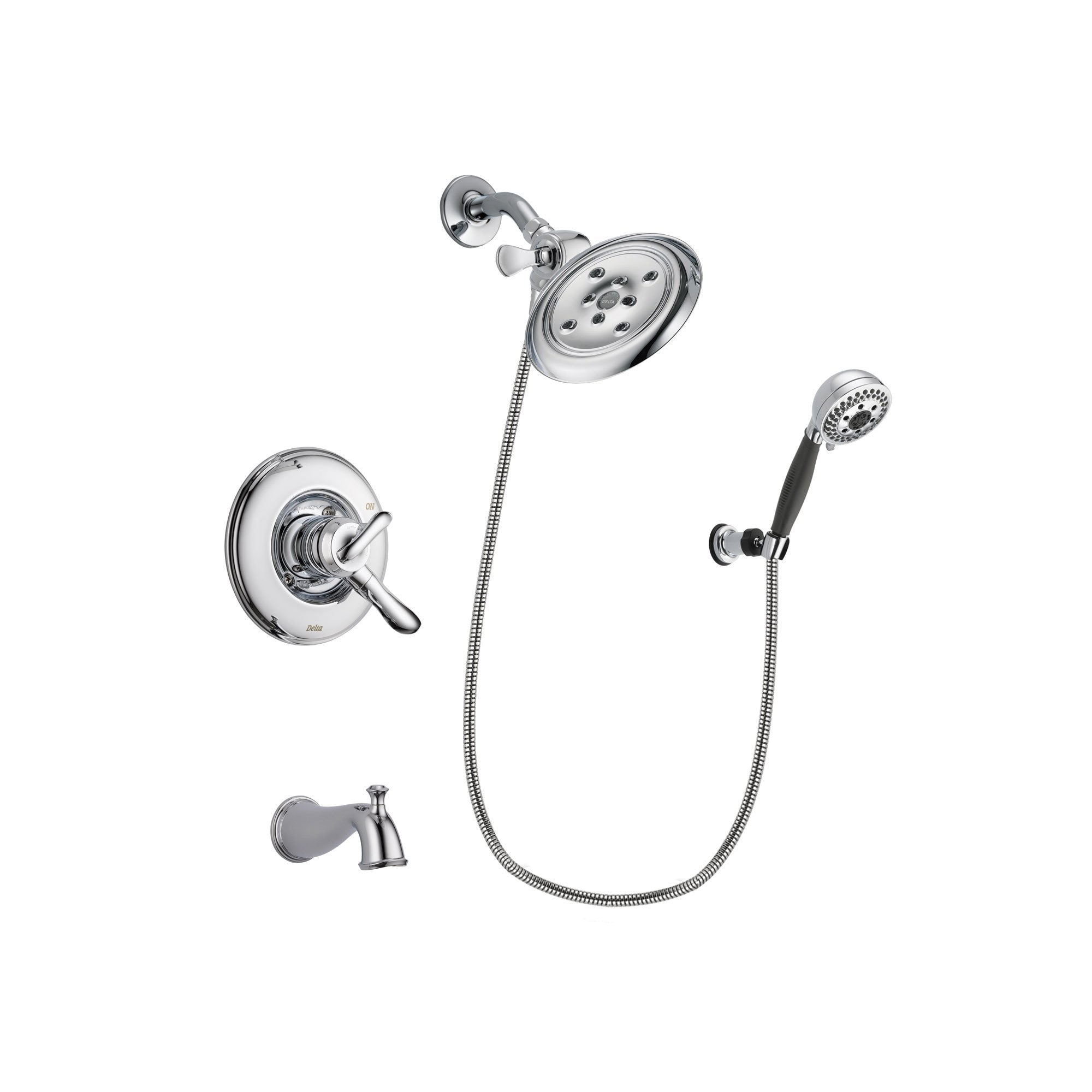 Delta Linden Chrome Tub and Shower Faucet System with Hand Shower DSP1203V