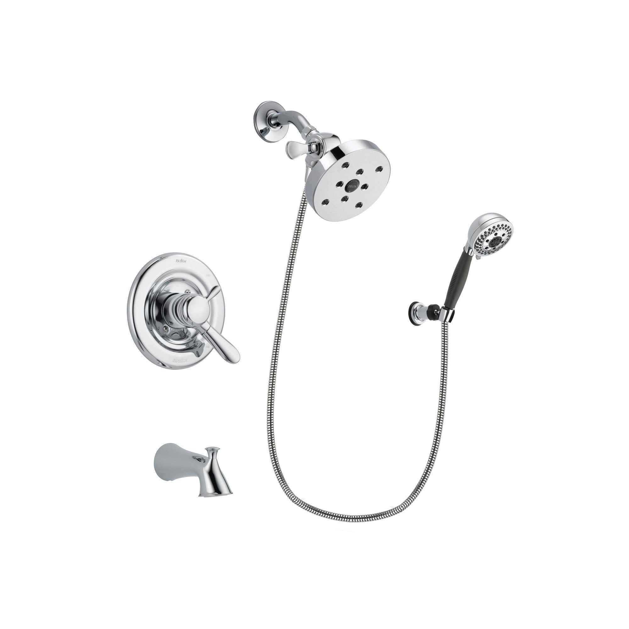 Delta Lahara Chrome Tub and Shower Faucet System with Hand Shower DSP1227V