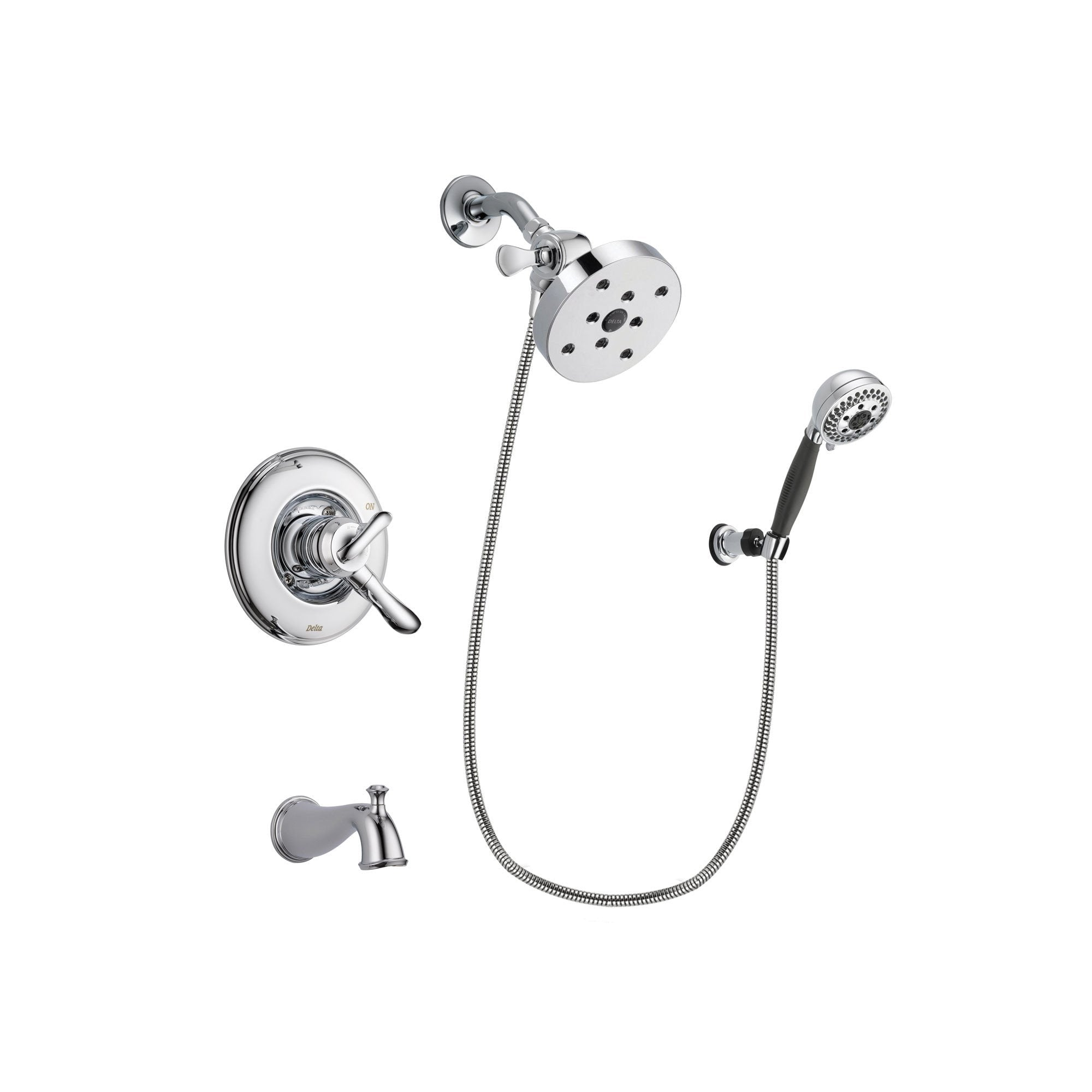 Delta Linden Chrome Tub and Shower Faucet System with Hand Shower DSP1237V
