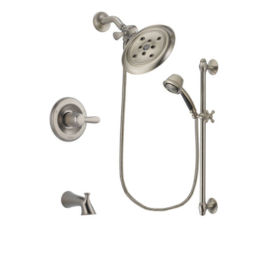 Delta Lahara Stainless Steel Finish Tub and Shower System w/Hand Shower DSP1319V