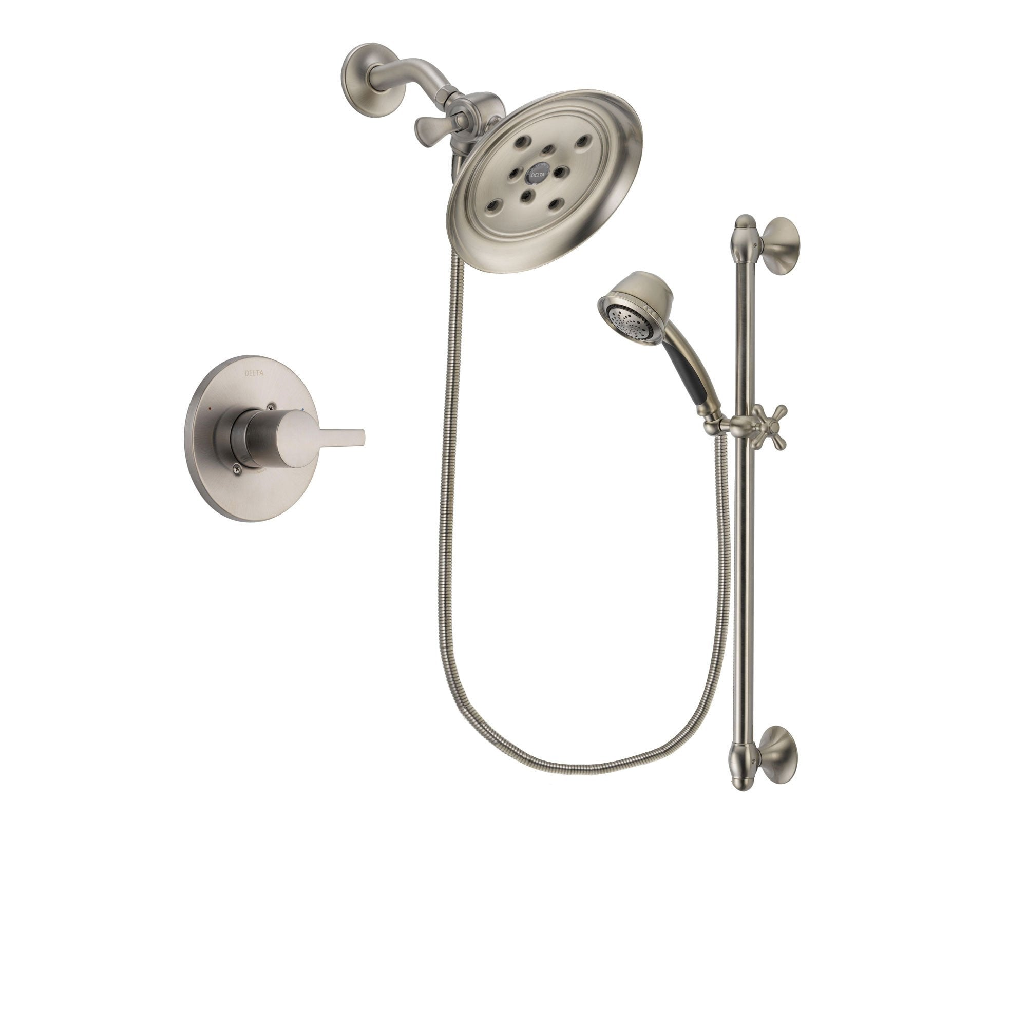 Delta Compel Stainless Steel Finish Shower Faucet System w/ Hand Spray DSP1324V