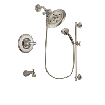Delta Linden Stainless Steel Finish Tub and Shower System w/Hand Shower DSP1327V