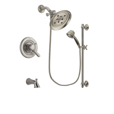 Delta Lahara Stainless Steel Finish Tub and Shower System w/Hand Shower DSP1329V