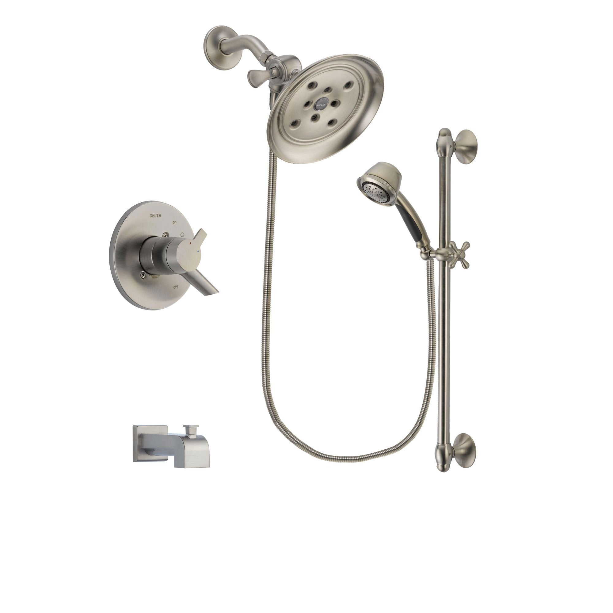 Delta Compel Stainless Steel Finish Tub and Shower System w/Hand Shower DSP1333V