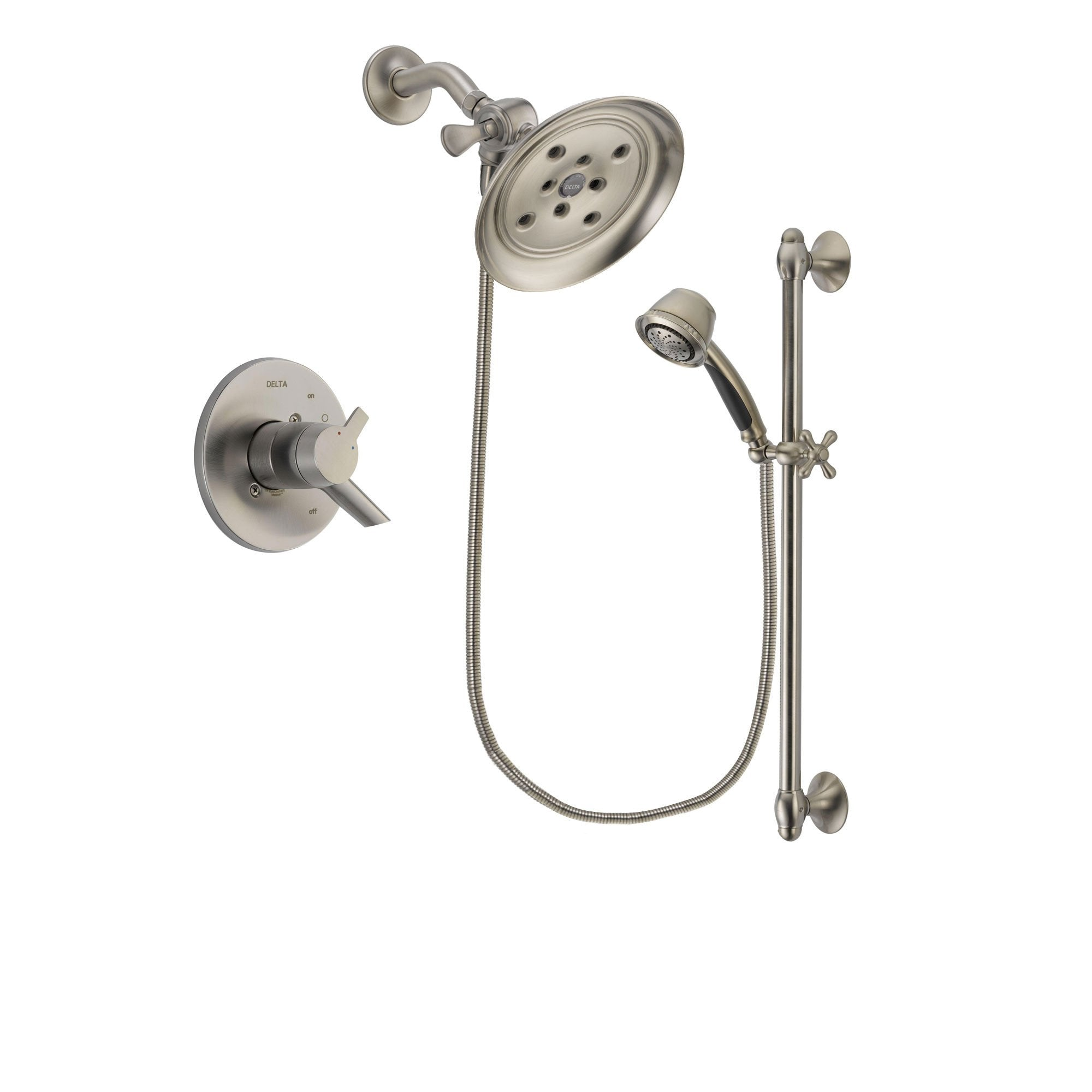 Delta Compel Stainless Steel Finish Shower Faucet System w/ Hand Spray DSP1334V