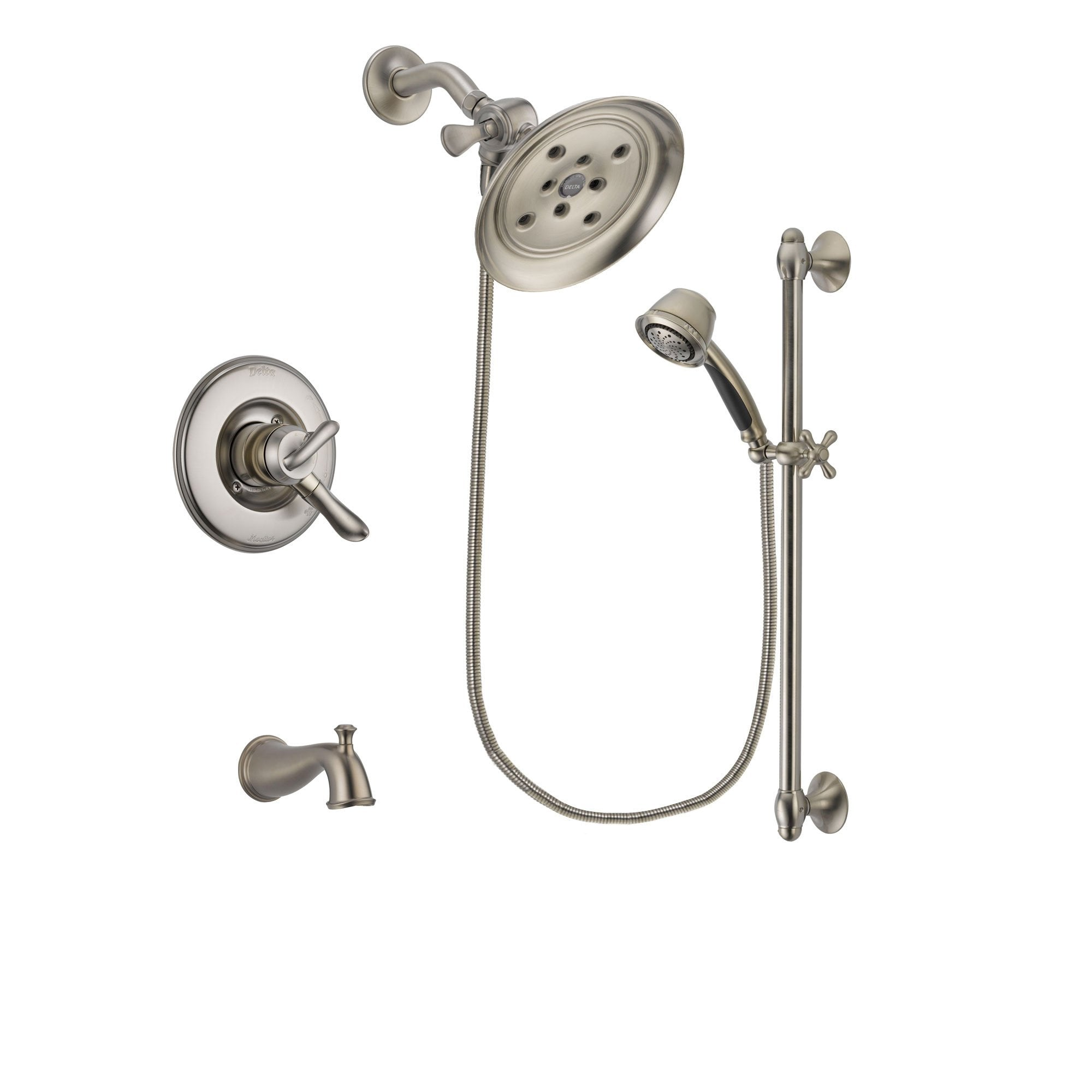 Delta Linden Stainless Steel Finish Tub and Shower System w/Hand Shower DSP1339V