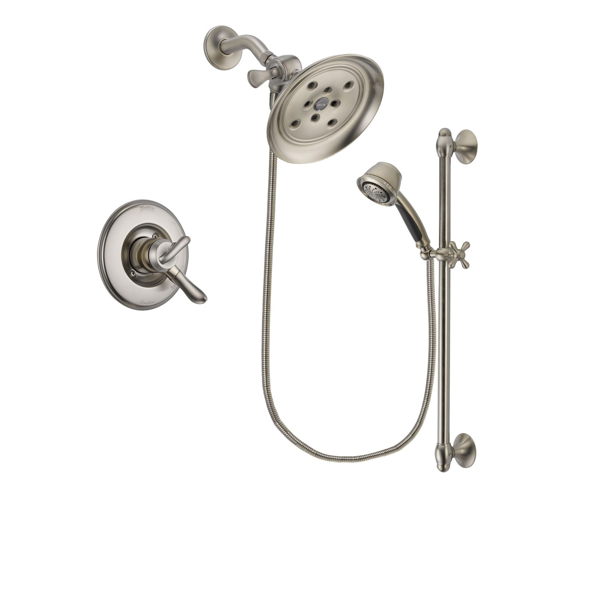 Delta Linden Stainless Steel Finish Shower Faucet System w/ Hand Spray DSP1340V