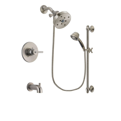 Delta Trinsic Stainless Steel Finish Tub and Shower System w/Hand Spray DSP1355V