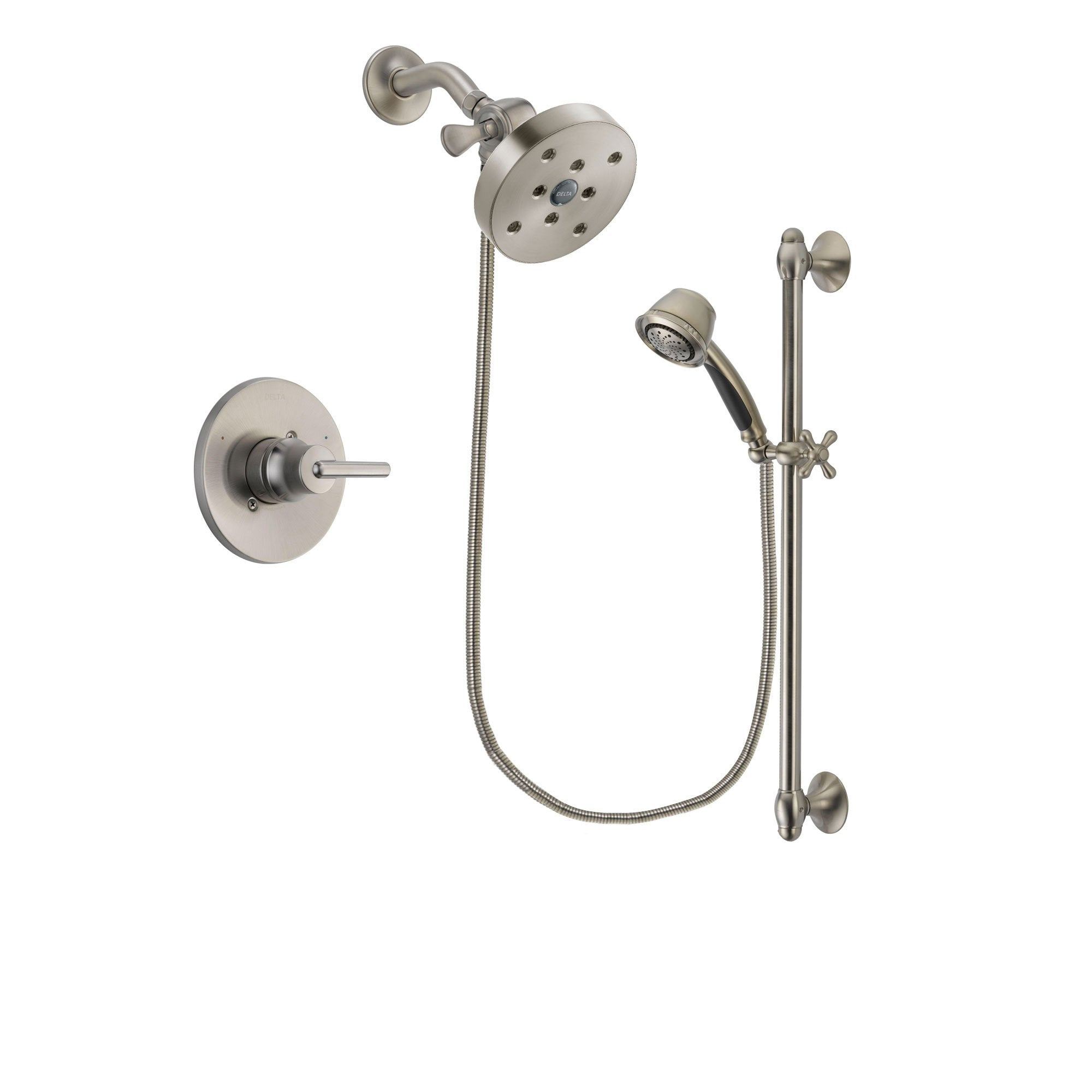 Delta Trinsic Stainless Steel Finish Shower Faucet System w/Hand Shower DSP1356V
