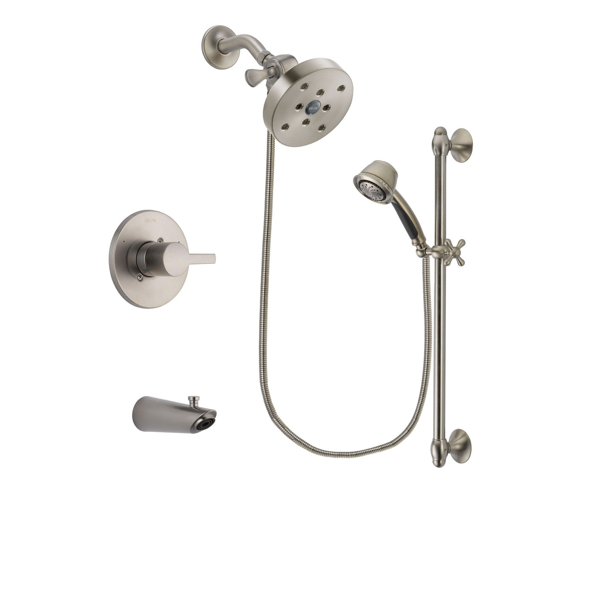 Delta Compel Stainless Steel Finish Tub and Shower System w/Hand Shower DSP1357V