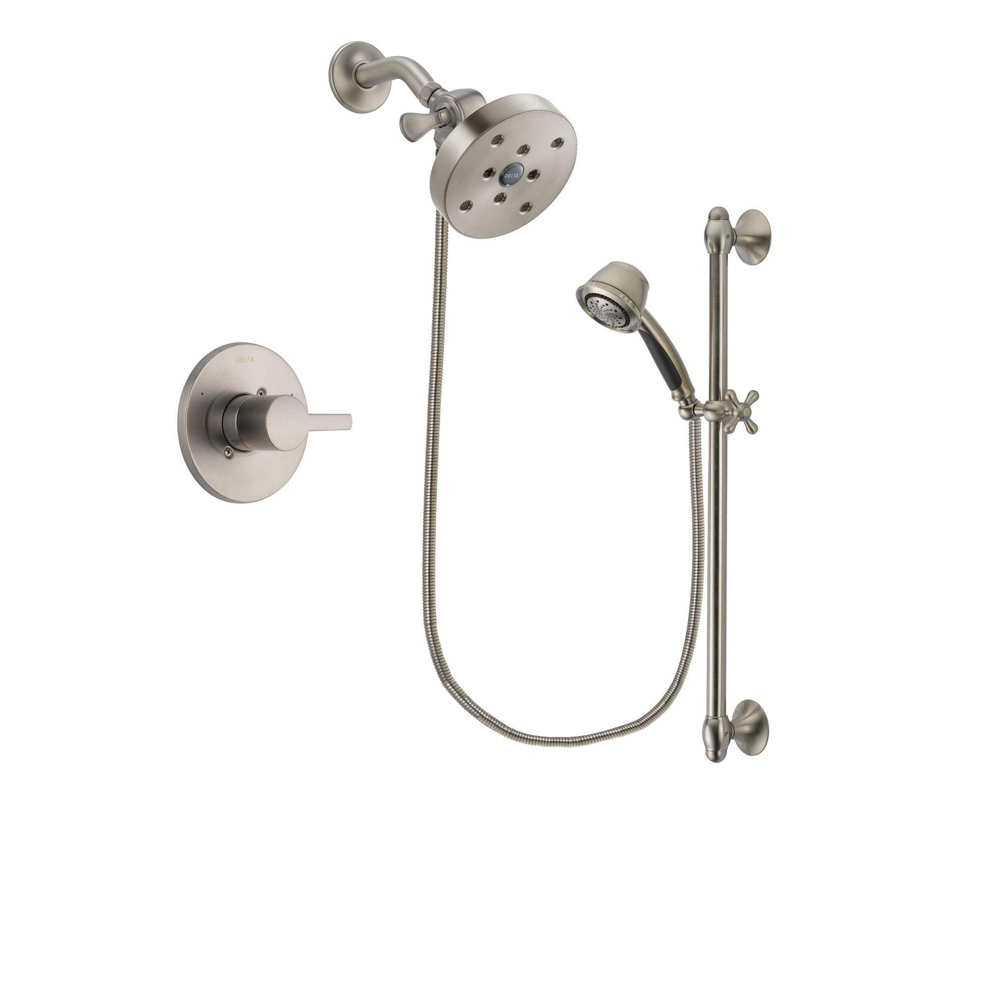 Delta Compel Stainless Steel Finish Shower Faucet System w/ Hand Spray DSP1358V