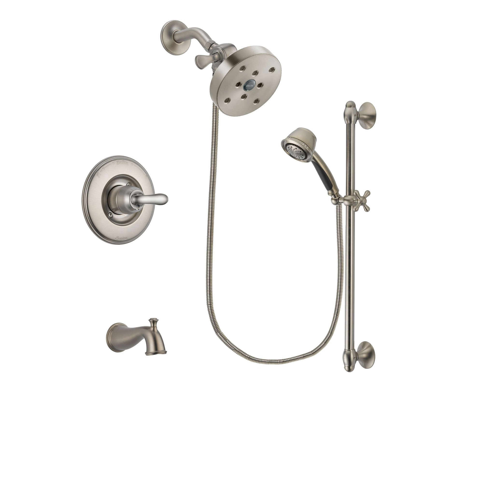 Delta Linden Stainless Steel Finish Tub and Shower System w/Hand Shower DSP1361V
