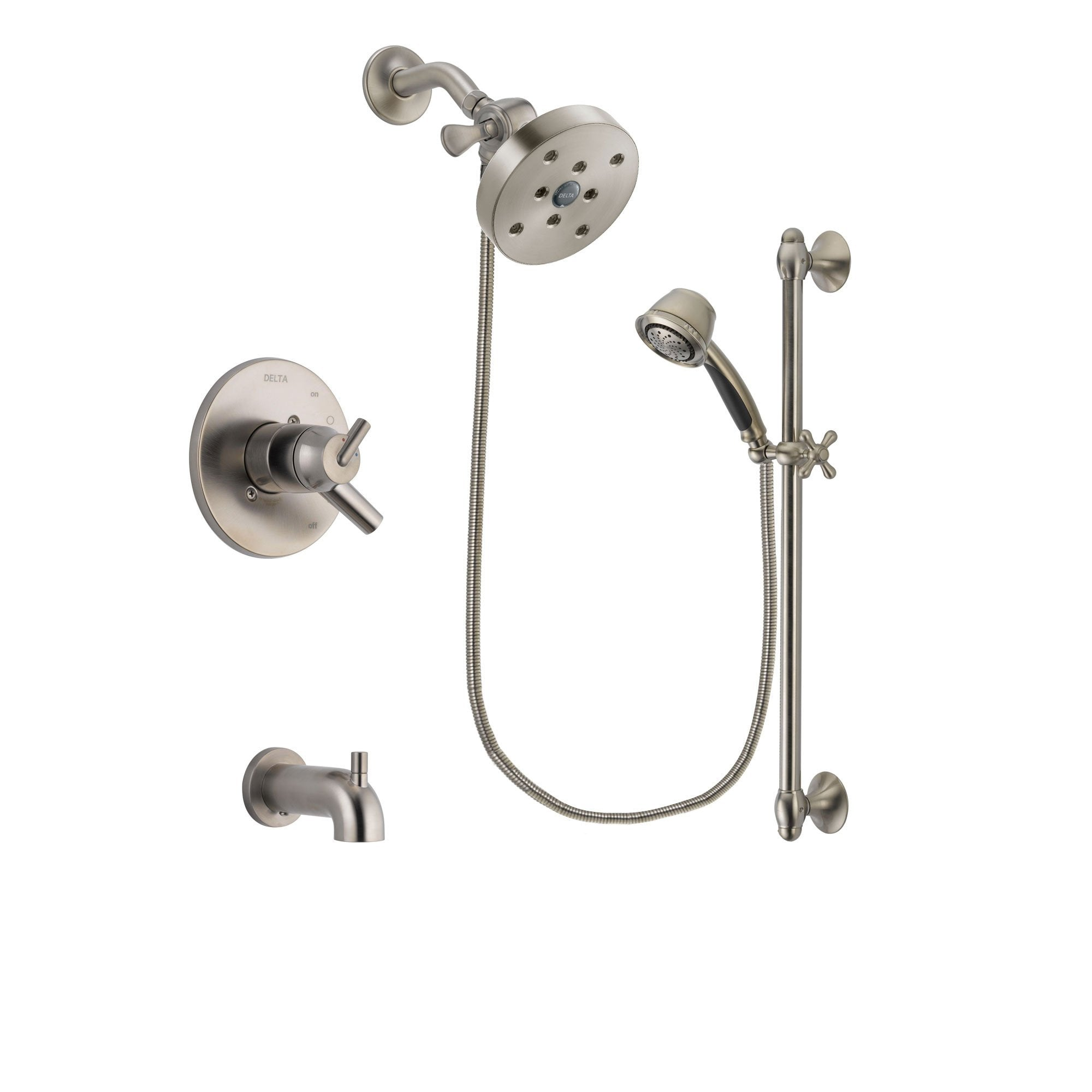 Delta Trinsic Stainless Steel Finish Tub and Shower System w/Hand Spray DSP1365V