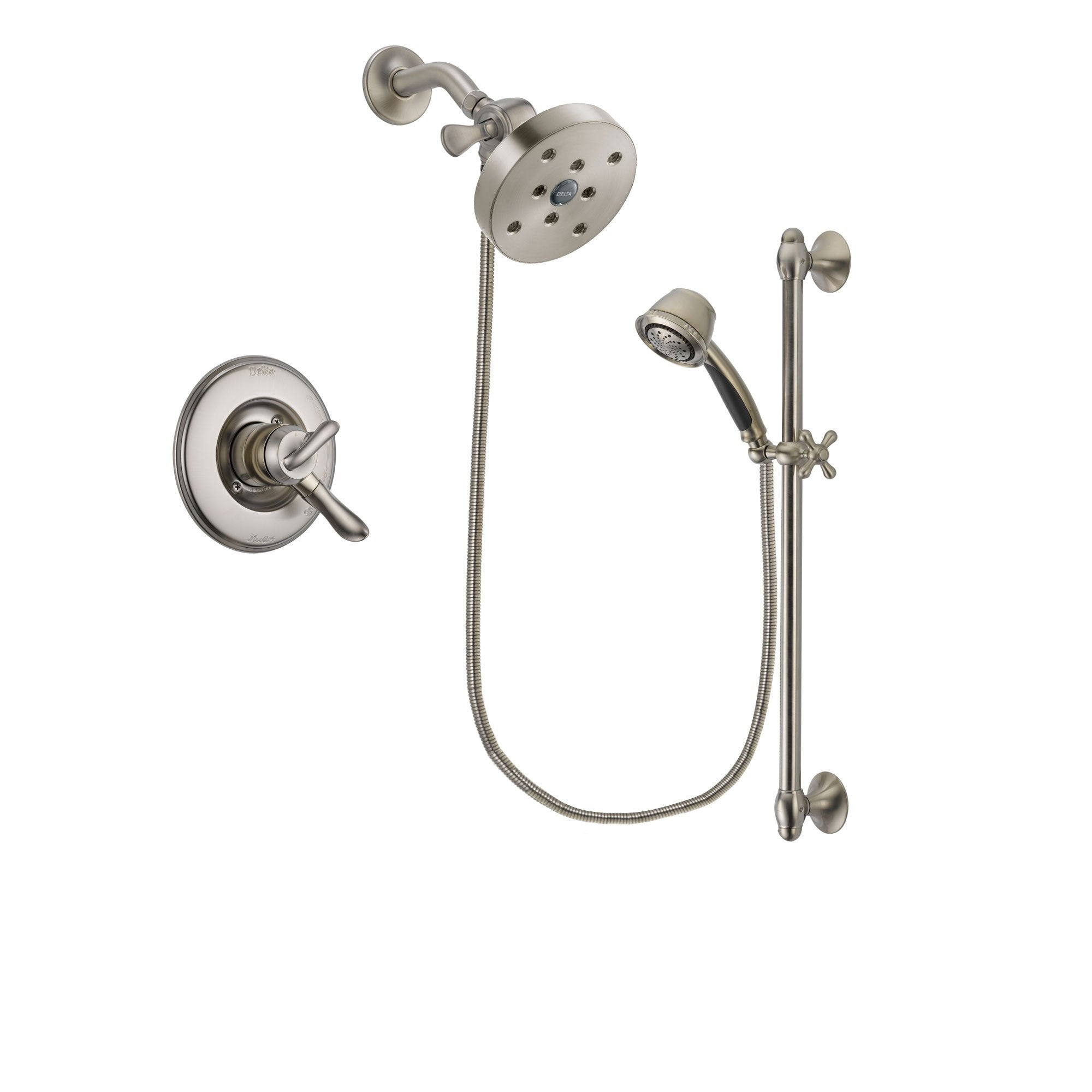 Delta Linden Stainless Steel Finish Shower Faucet System w/ Hand Spray DSP1374V