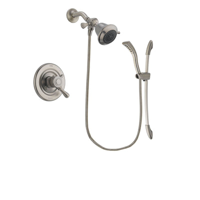 Delta Leland Stainless Steel Finish Dual Control Shower Faucet System Package with Shower Head and Handshower with Slide Bar Includes Rough-in Valve DSP1404V