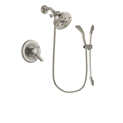 Delta Lahara Stainless Steel Finish Dual Control Shower Faucet System Package with 5-1/2 inch Shower Head and Handshower with Slide Bar Includes Rough-in Valve DSP1500V