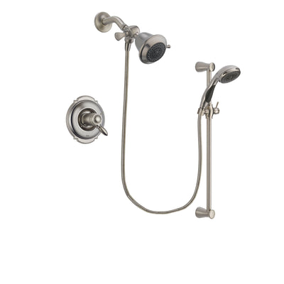 Delta Victorian Stainless Steel Finish Thermostatic Shower Faucet System Package with Shower Head and Handheld Shower Spray with Slide Bar Includes Rough-in Valve DSP1516V