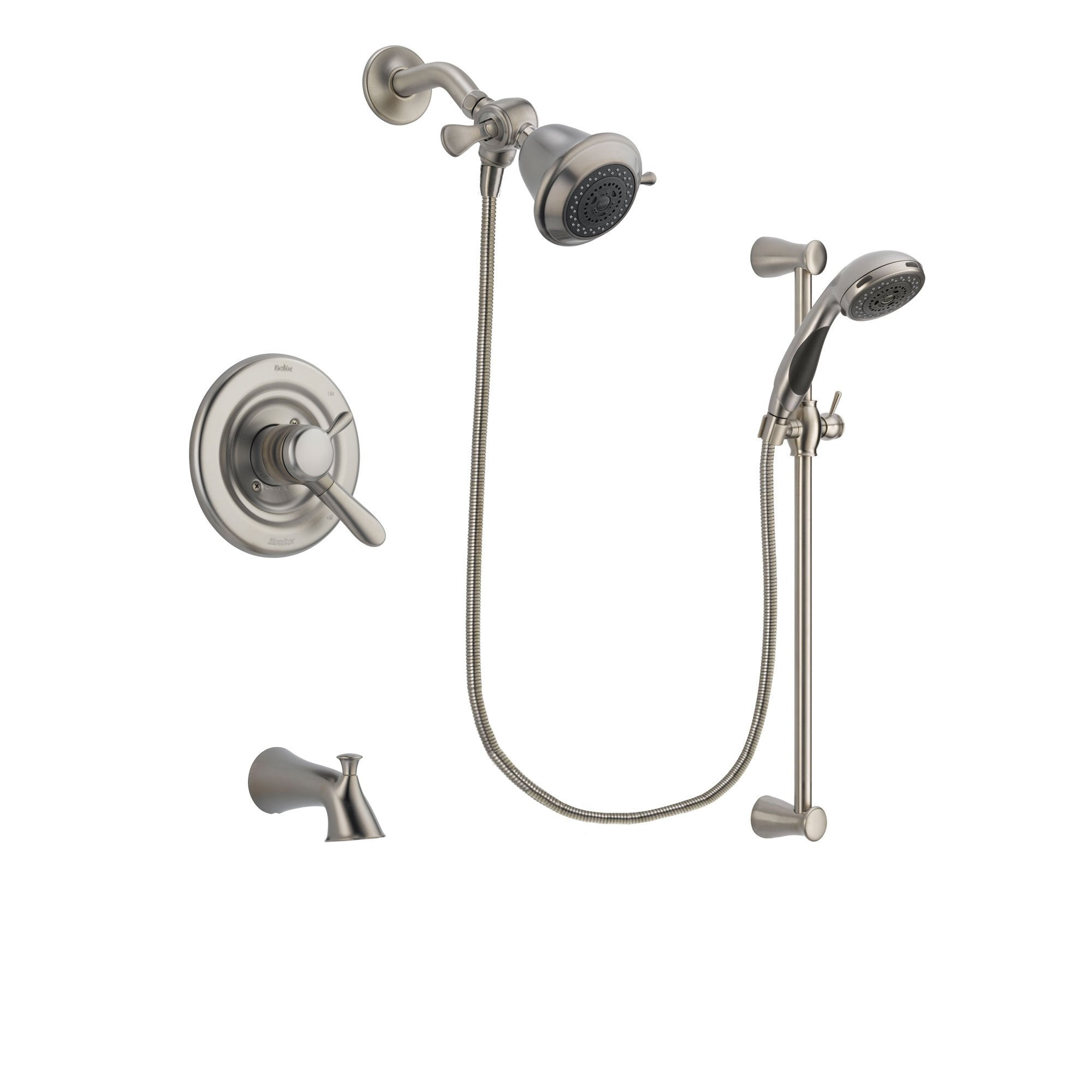 Delta Lahara Stainless Steel Finish Dual Control Tub and Shower ...