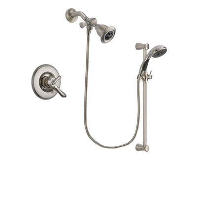 Delta Linden Stainless Steel Finish Dual Control Shower Faucet System Package with Water Efficient Showerhead and Handheld Shower Spray with Slide Bar Includes Rough-in Valve DSP1578V