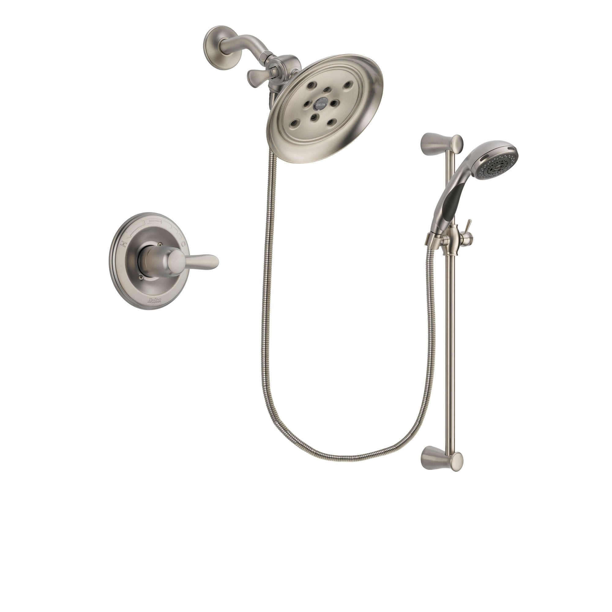 Delta Lahara Stainless Steel Finish Shower Faucet System w/ Hand Spray DSP1592V