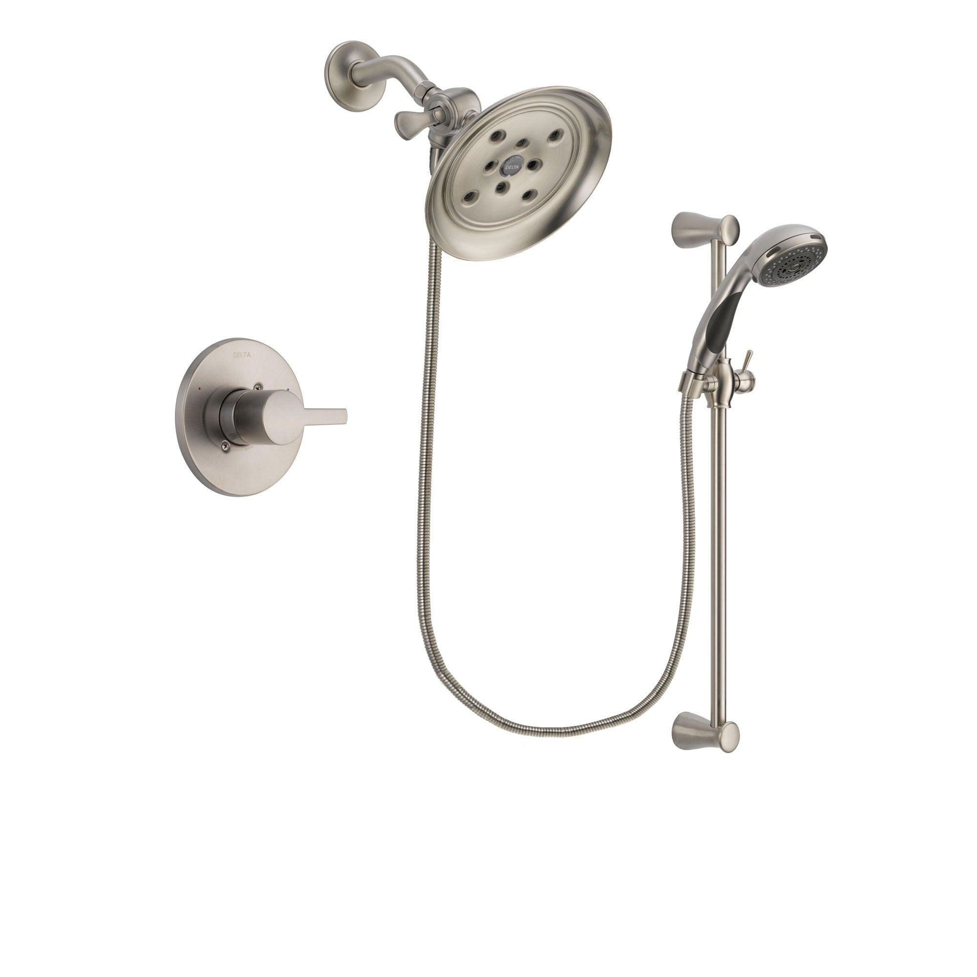 Delta Compel Stainless Steel Finish Shower Faucet System w/ Hand Spray DSP1596V