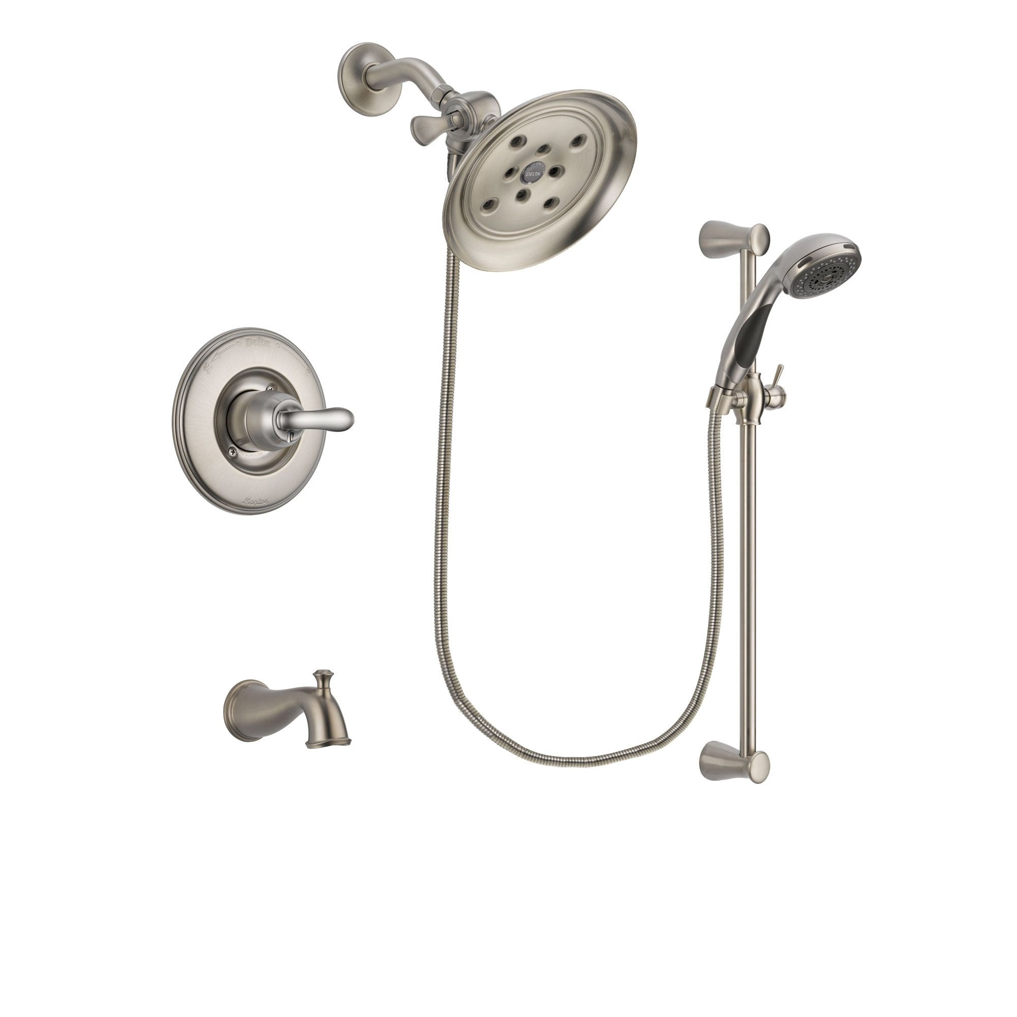Delta Linden Stainless Steel Finish Tub and Shower System w/Hand Shower DSP1599V