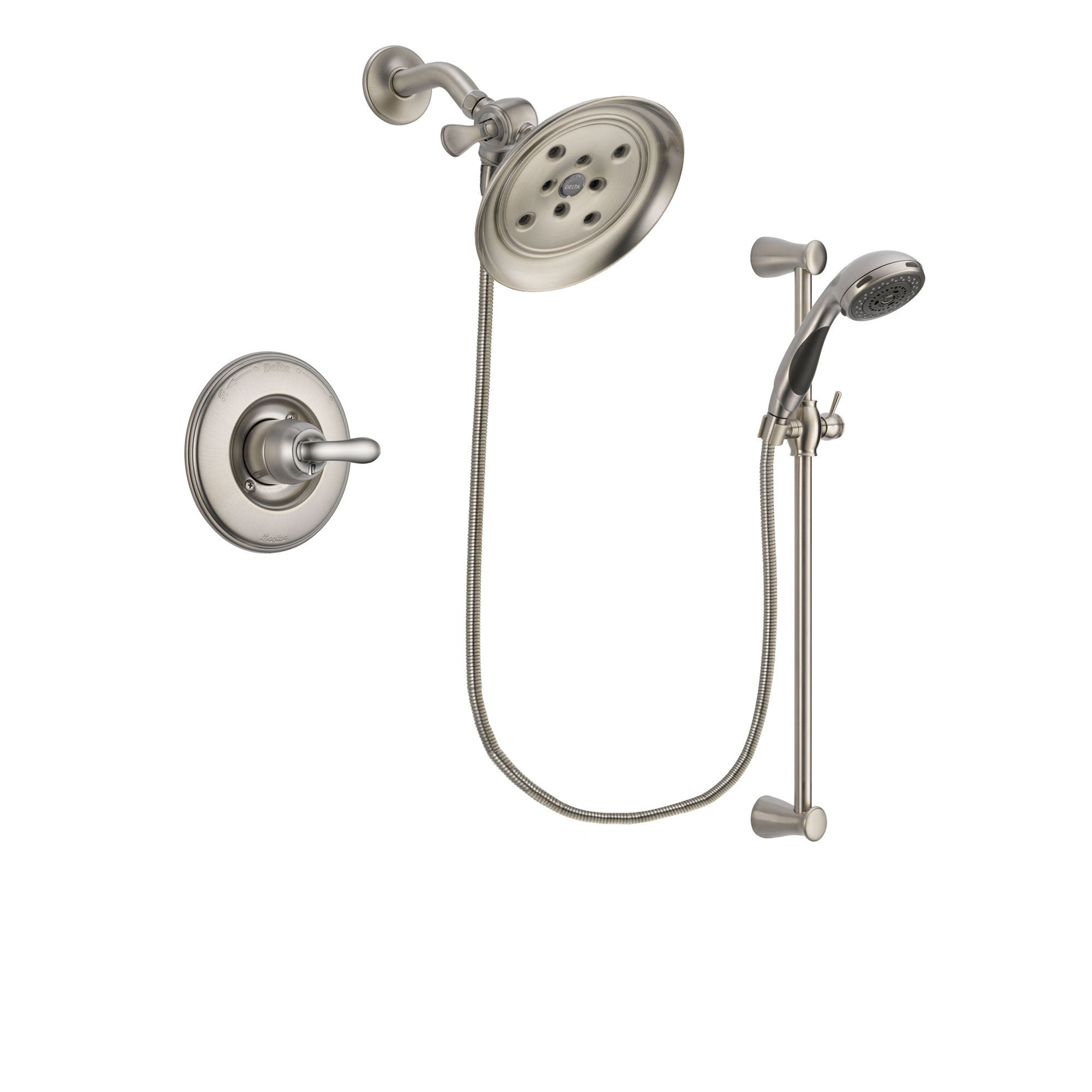 Delta Linden Stainless Steel Finish Shower Faucet System w/ Hand Spray DSP1600V