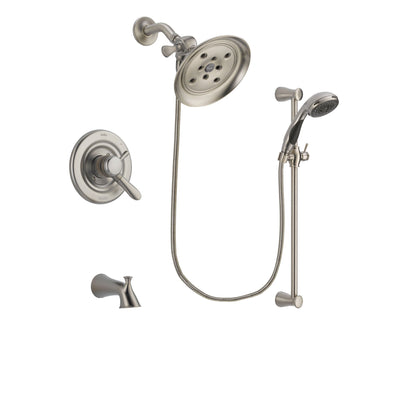 Delta Lahara Stainless Steel Finish Tub and Shower System w/Hand Shower DSP1601V
